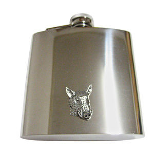 Front Looking Wild Boar Hog Head Large Flask